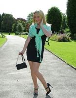 Beautiful Babe in Mini Skirt