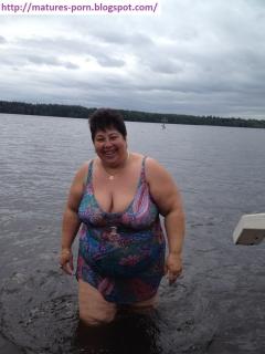 Sexy russian granny in bikini
