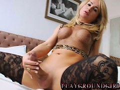 shemale-in-stockings-jerks-her-big-curved-cock