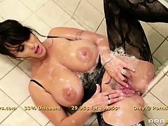 Glorious brunette MILF Holly Halston is ass fucked