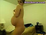 Cute Pregnant Teen Strips For Cam