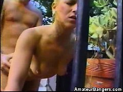 Hot Amateur Babe Fucked And Jizzed By The Pool