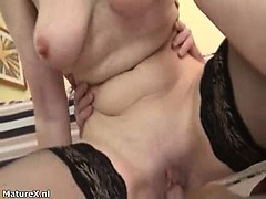 Horny Blonde Mature Woman Goes Crazy Part1