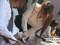 subtitled-japanese-public-cafe-erection-wiping-waitress