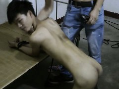 Slim Asian Slave Boy Ass Spanking