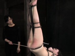 Breast Bonded Sub Caned By Dom Master