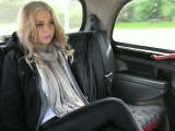 Big tits blondie passenger fucked and creampied by driver