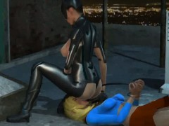 3d Lesbian Catwoman Getting Her Wet Pussy Licked