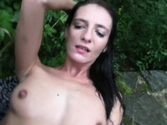 slim-brunette-amateur-fucks-outdoors