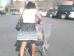 Ebony Girl With A Bare Booty In Public