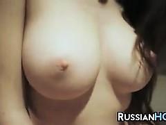 Busty Russian Beauty In The Bathroom