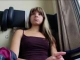 Super tight Euro teen Gina Gerson fucked in the train