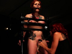 Domina Whips Sexy Bitgagged Victim