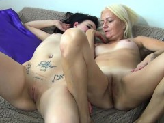 young-brunette-girl-masturbate-with-blonde-granny-in-bed