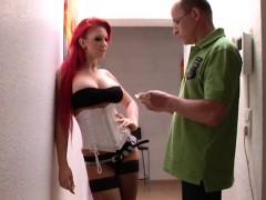 German Redhead Hooker Get Real Hard Fucked By Older Men