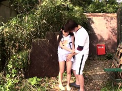 tiny-japanese-pissing-babe-outdoors-gets-fingered