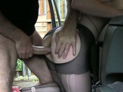 Sexy amateur customer anal fucked for a free taxi fare