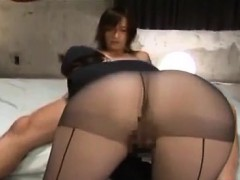 horny asian babe screwing