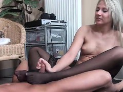 stockinged-footjob-from-a-pantyless-blonde