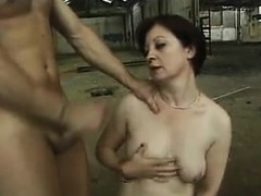 granny anal fucked in an abandoned warehouse granny sex movies