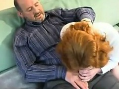 Sweet Redhead Seduced By An Old Guy