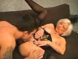 Blonde MILF Wearing Lingerie Wants Cock