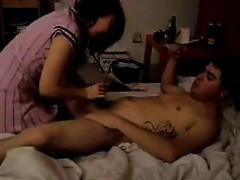 cocksucking chinese chick rides dick