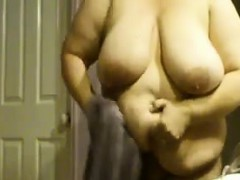 large-woman-showering-and-drying-off