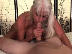 Granny Sucks Young Stud Cock