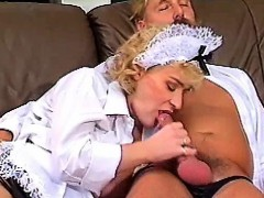 Stockinged Slut Banged Hard In Retro Video