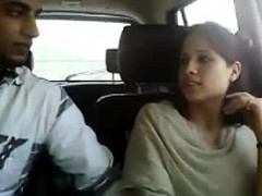 pretty indian blowing penis in the car