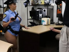 Big Tits Police Officer Gets Her Pussy Fucked By Pawn Man
