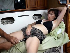 pleasing-her-pussy-with-a-makeshift-vibrator