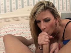 Horny And Busty MILF Sara Jay Blowing Big Dong