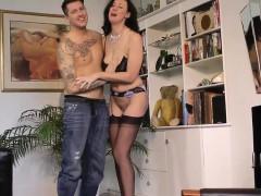 Brit mature frigged in her sexy underwear