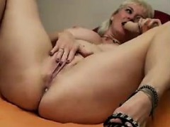 Naughty Granny And Her Toys