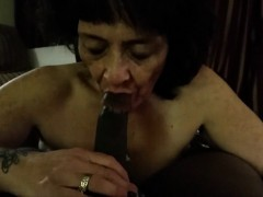 amateur granny devouring a huge black shaft