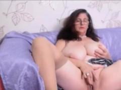 busty-granny-with-curly-hair-masturbating