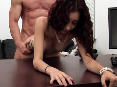 Skinny Latina in G String Gets Ass Fucked