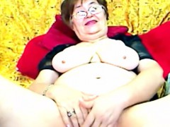 horny granny masturbating on webcam