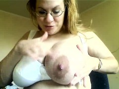 Milf With Big Tits Milking Herself