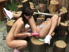 lesbian-pussy-licking-punishment-cutting-wood-and-licking-pu