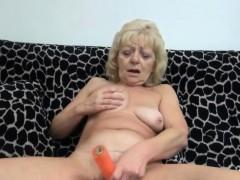 Blonde Masturbating Granny