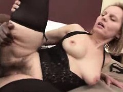 hairy muffin granny breeded by a black stud