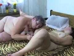 masturbating big granny gets company