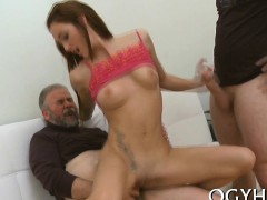 Young Honey Gets Banged From Behind By Old Nasty Guy