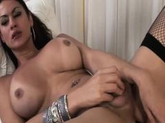 Rabeche Rayala Big Ass Shemale Tugging Her Cock