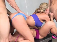blonde-whores-ride-their-lovers-inside-the-gym