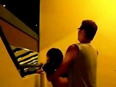 Asiansexporno.com – Singapore Couple Staircase Quick Sex