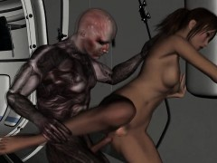 Hot 3d Babe Fingered And Fucked By An Alien